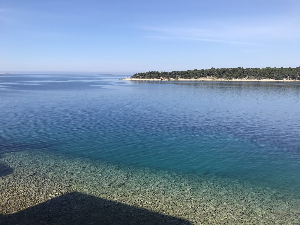 Just around the corner from our apartment, 2 minutes walking distance - Island Rab, Croatia, July 2019